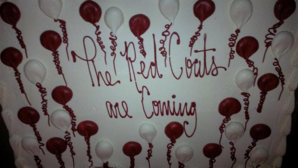 Red Coat Cake